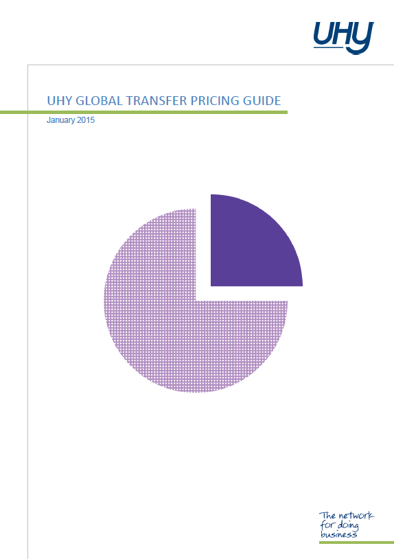 UHY Global Transfer Pricing Guide 2015 Cover