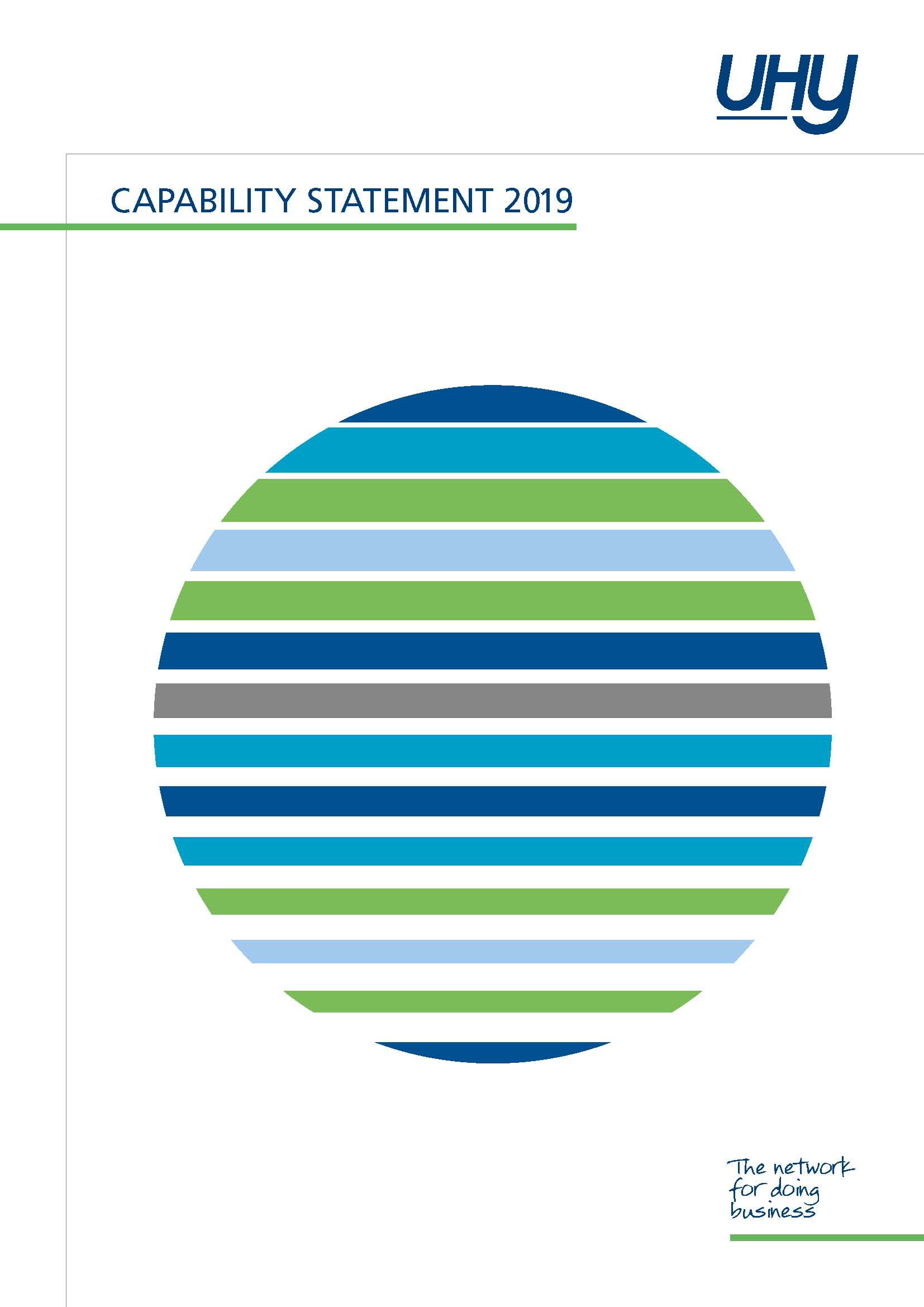 UHY Capability Statement 2019 Cover